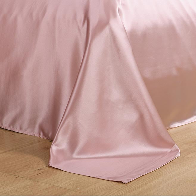Natural Premium Mulberry Silk Flat Bed Sheet for Skin and Hair Care Multicolor