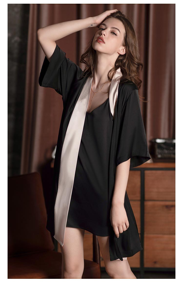 Mulberry Silk Robe for Spring and Summer, Bridesmaid Robe