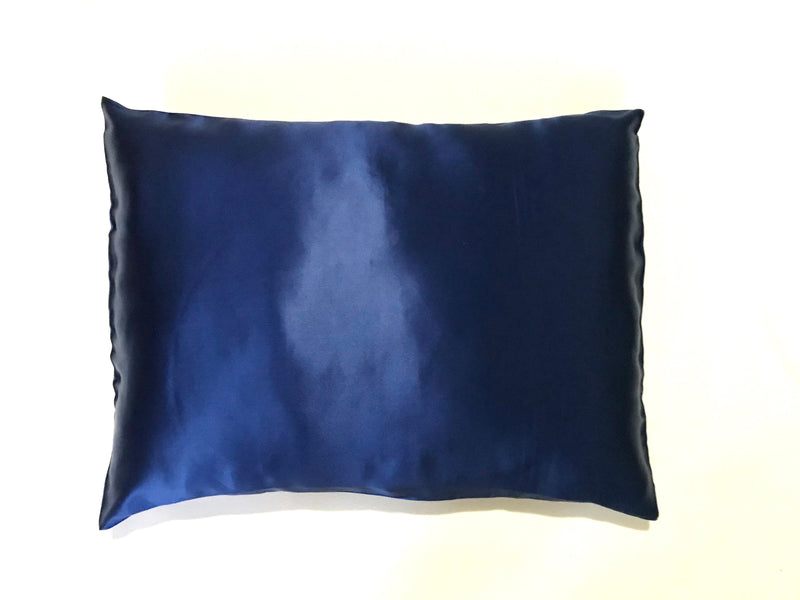 2-in-1 Mulberry Silk Sleeping Combo, Pillowcase and Eye Pillow (Blue)