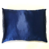 Luxury Mulberry Silk Sleeping Pillowcase with Envelope Closure (Blue)