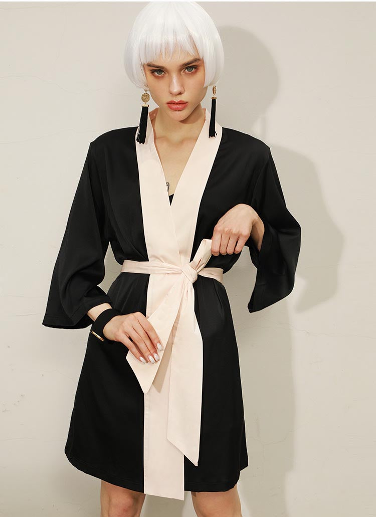 Satin Robe for Spring and Summer with Dress, Best Gift