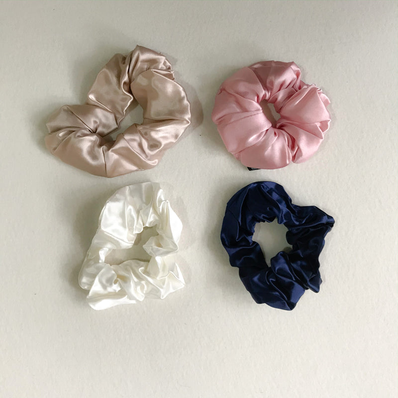 22 momme Mulberry Silk Hair Scrunchies Combo, Wedding/ Birthday Gift