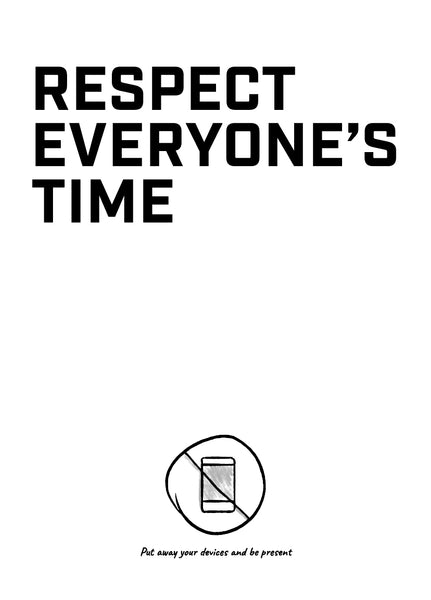 Meeting Mantra Poster: Respect Everyone's Time