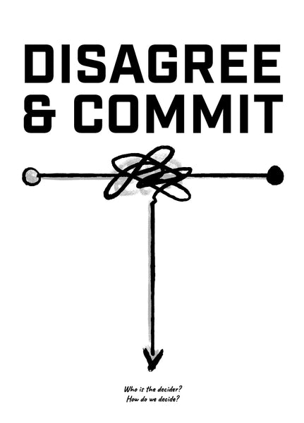 Meeting Mantra Poster: Disagree & Commit