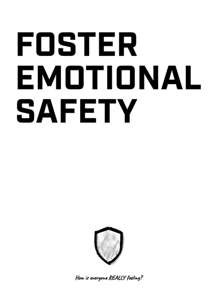 Meeting Mantra Poster: Foster Emotional Safety