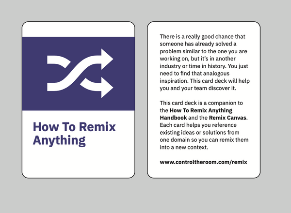 How To Remix Anything Card Deck