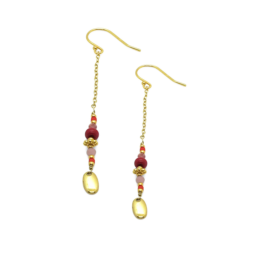 Bright REd- Dazling Earrings