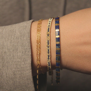 Shades of Midnights - Tile bracelet