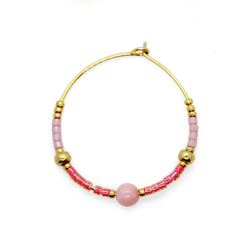 Shades of Pink- Hoops
