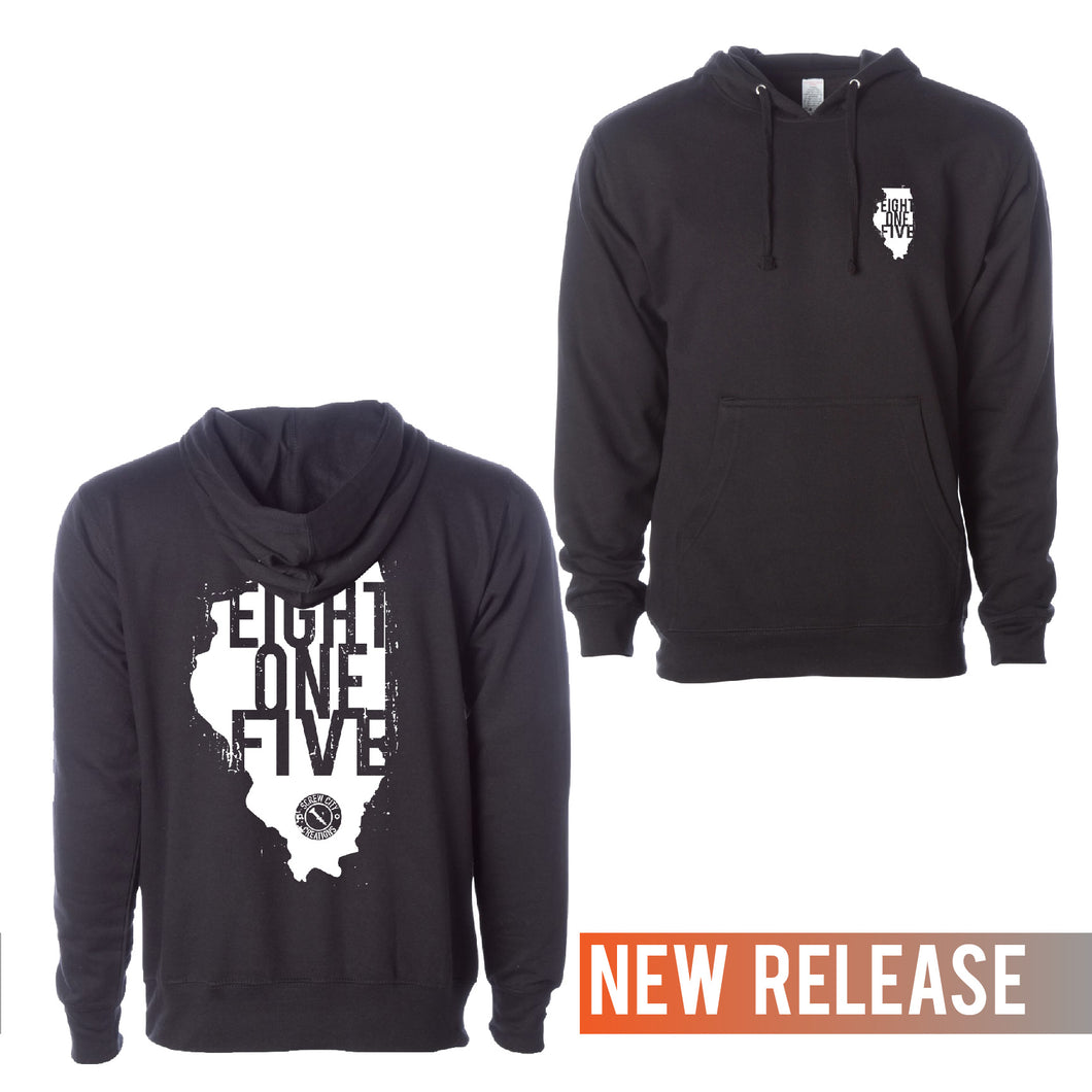 Eight One Five Illinois Hooded Sweat Shirt