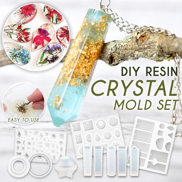DIY Resin Crystal Mold 83 pcs Set