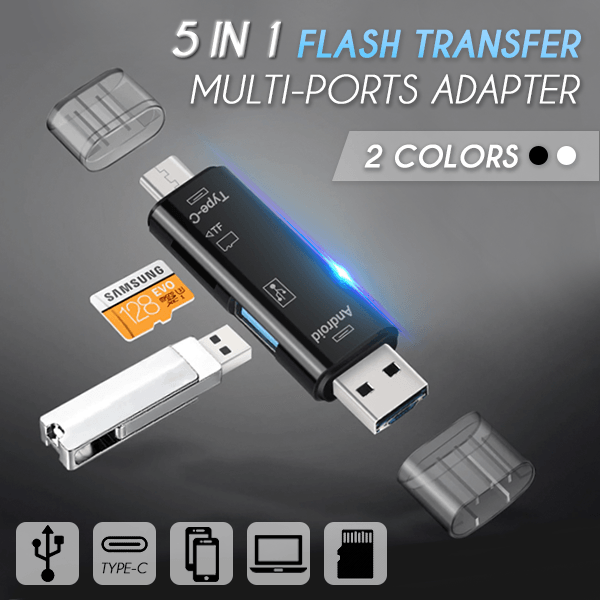 5 In 1 Flash Transfer Multi-ports Adapter