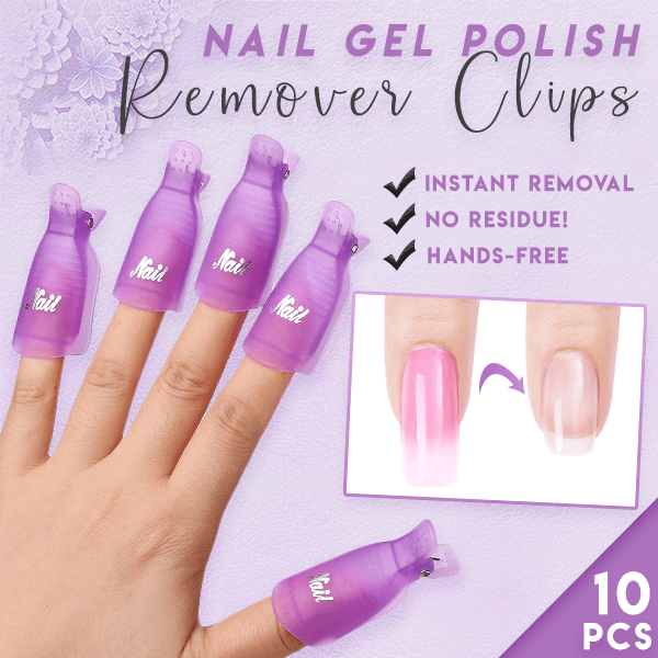Lazy Nail Gel Polish Remover Clips