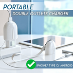 Portable Double Outlets Charger