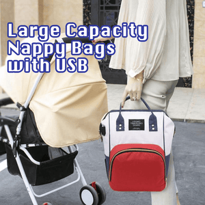 Large Capacity Nappy Bag with USB