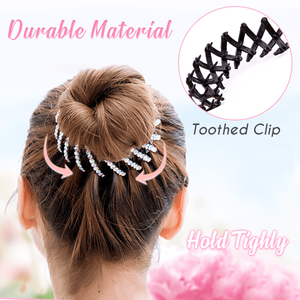 Expandable Glittering Bird Nest Hair Clips