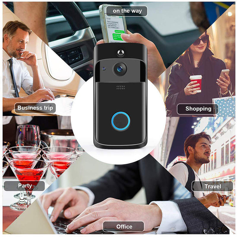 Best Video Doorbell Wireless Video Doorbell Wireless Doorbell Camera Wifi Doorbell Camera Smart Video Doorbell 2-way Audio Home Security Rainproof