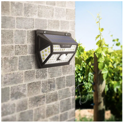 Solar Security Light Motion Sensor Light Solar Power Light Wide Angel Waterproof Outdoor Light Garden Path Yard Lamp