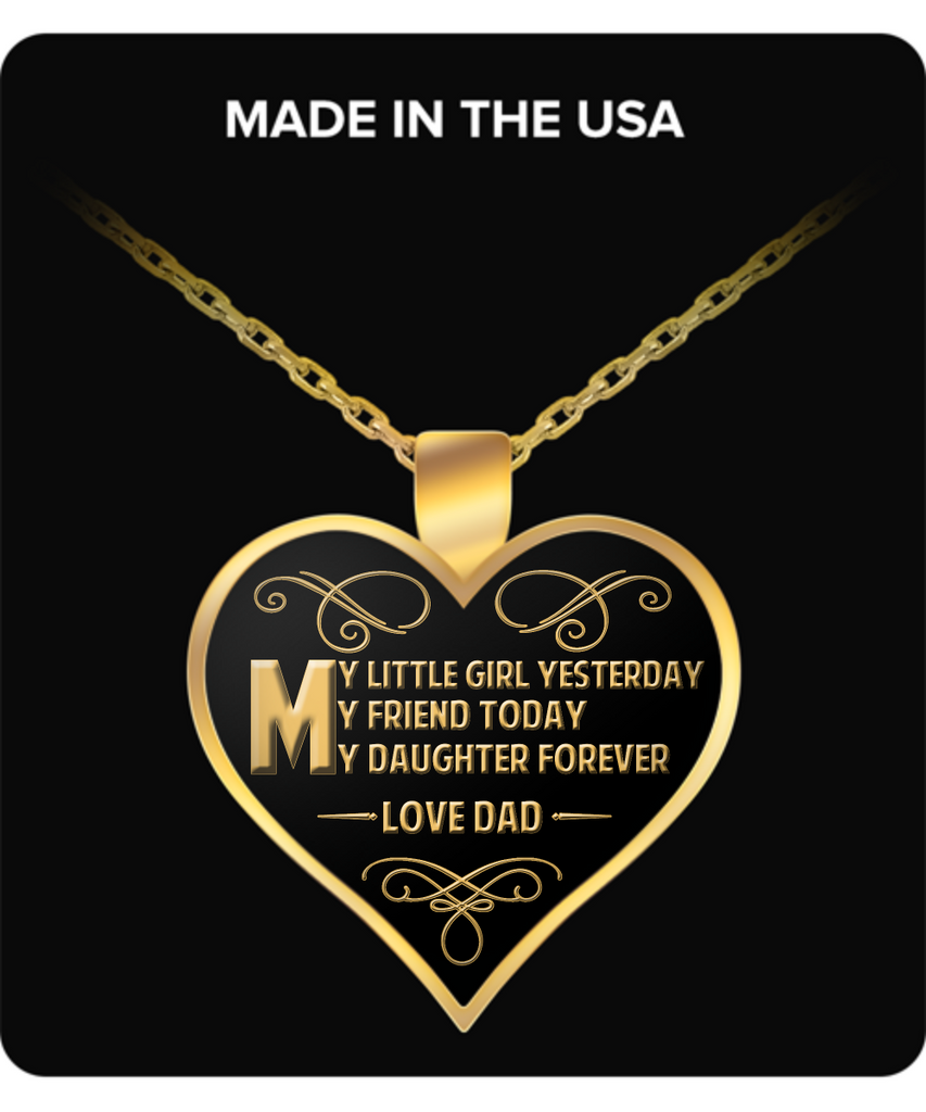 Daughter Heart Pendant Necklace – My Daughter Forever