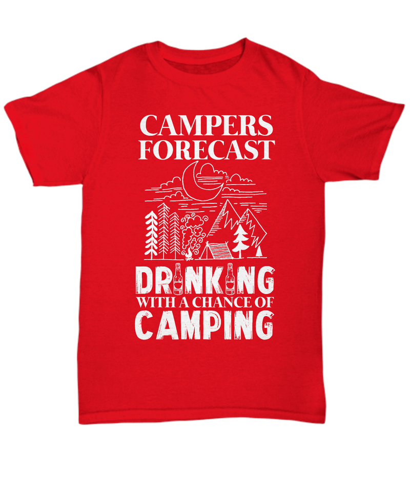 Campers Forecast: Drinking With a Chance of Camping Shirt, Hoodie and Sweatshirt