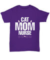 Cat Mom Nurse Shirt, Hoodie and Sweatshirt