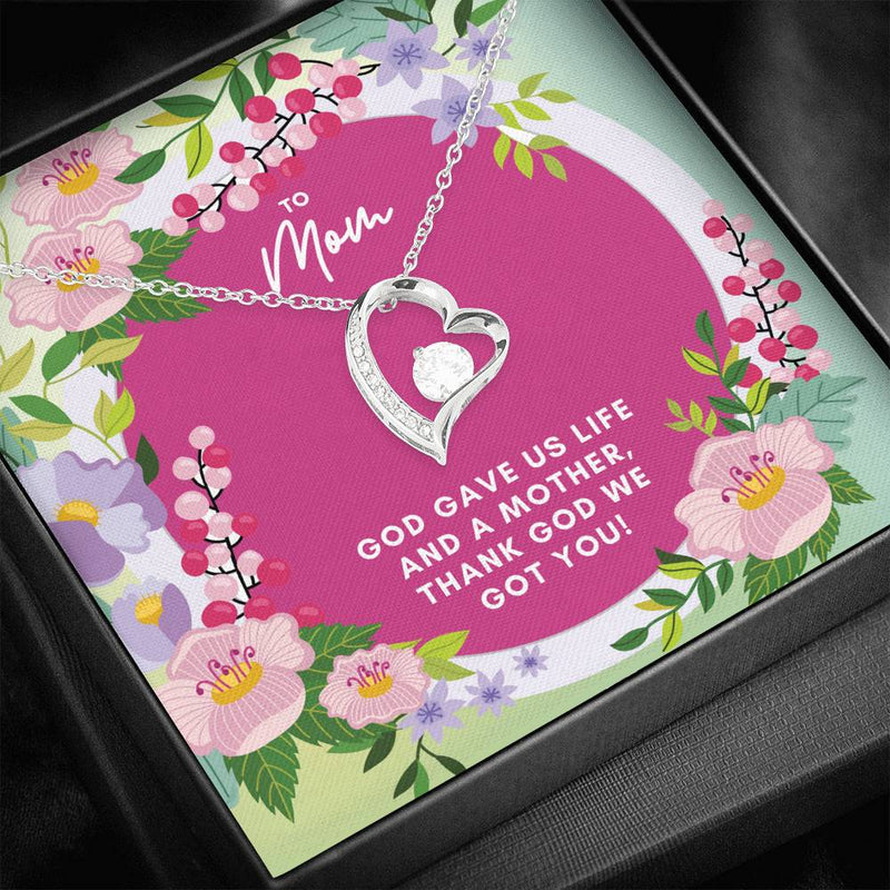 To Mom Heart Necklace