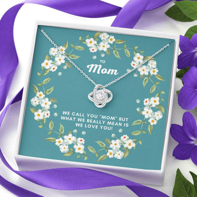 To Mom Love Knot Necklace