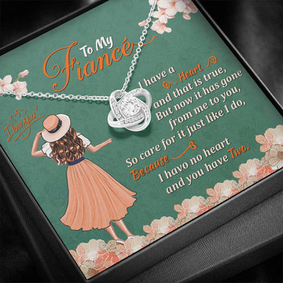 To My Fiance Love Knot Necklace