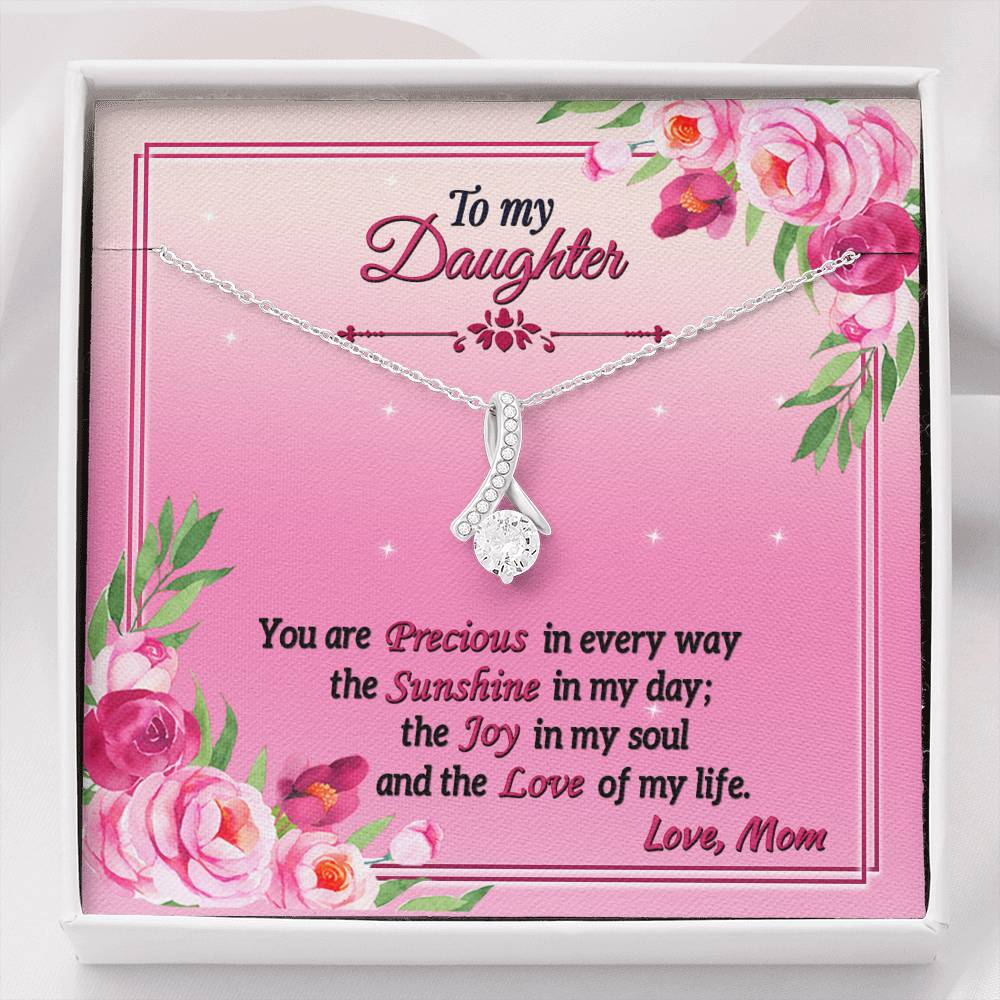 To My Daughter Alluring Beauty Necklace