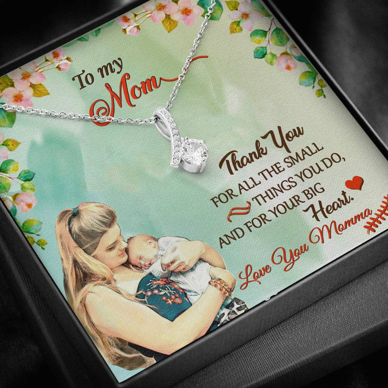 To My Mom Alluring Beauty Necklace