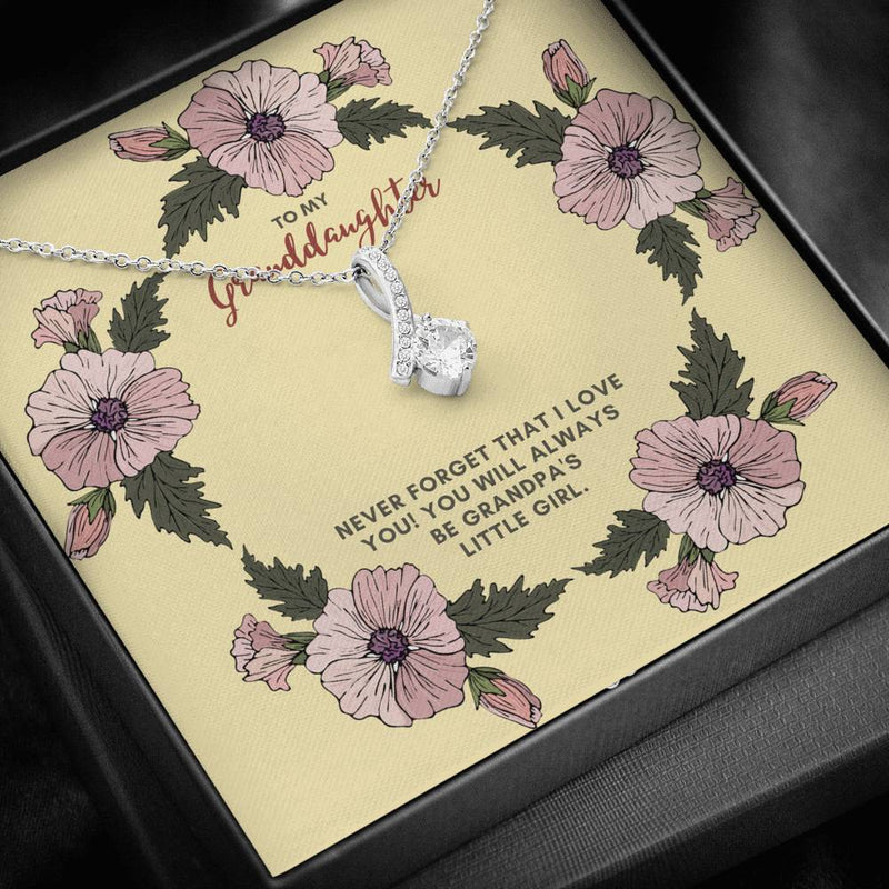 To My Granddaughter Alluring Beauty Necklace