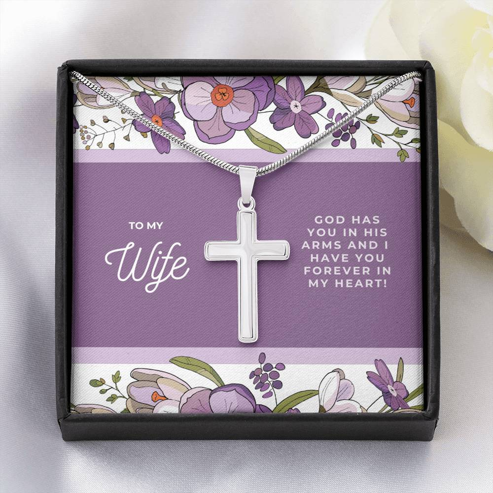 To My Wife Cross Necklace