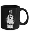 Boo Mug - 11oz Coffee Mug - Hi Boo - Funny Ceramic Tea Cup For Men Women