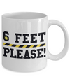 Six Feet Please Coffee Mug