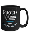 Proud Grandparent - Thin Blue Line Coffee Mug