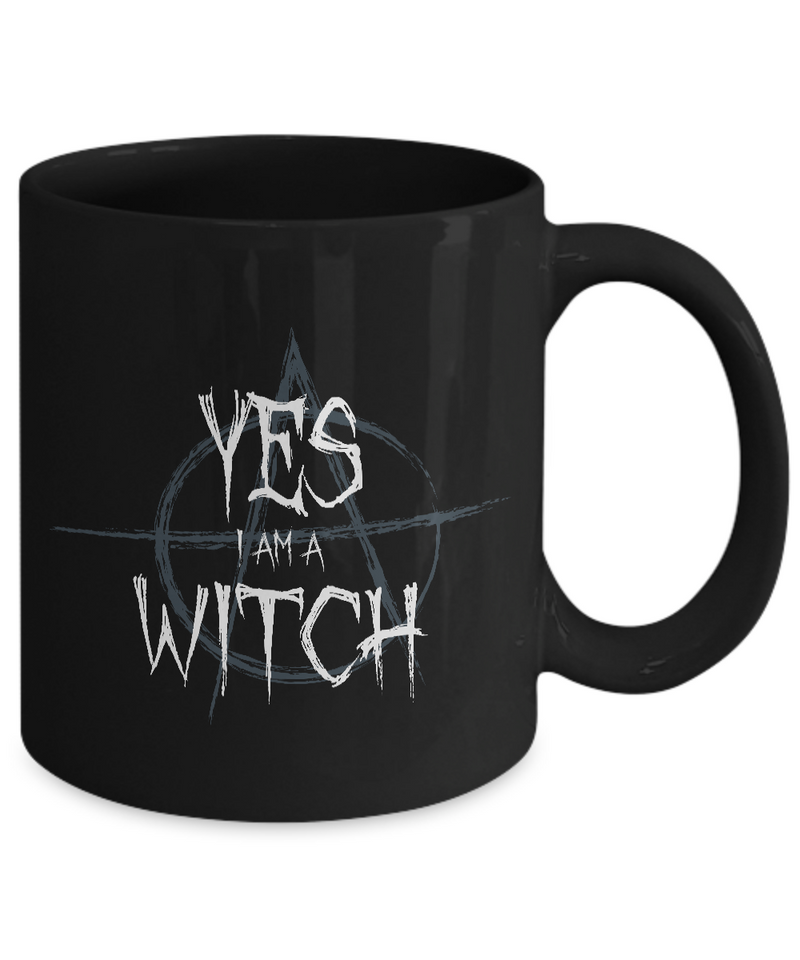 Witch Mug - 11oz Coffee Mug - Yes I am a Witch - Funny Ceramic Tea Cup For Women