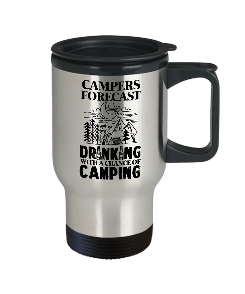 Campers Forecast: Drinking With a Chance of Camping Travel Mug
