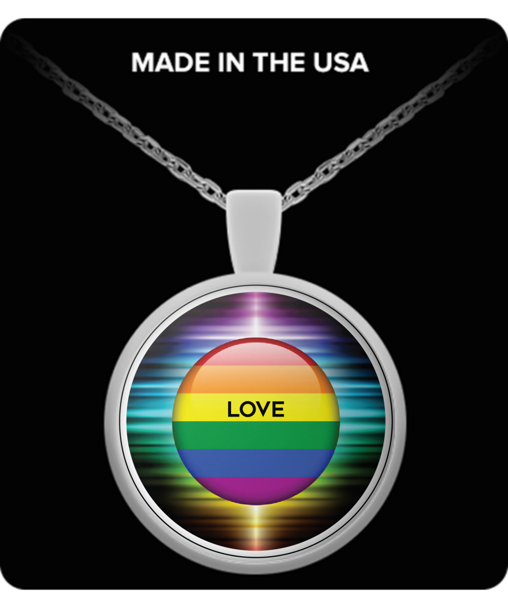 Sweetheart Round Pendant Necklace – Love is Love