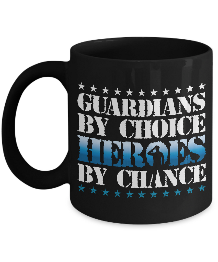 Guardians by Choice, Heroes by Chance Coffee Mug