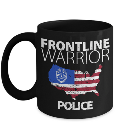 Frontline Warrior Police Coffee Mug