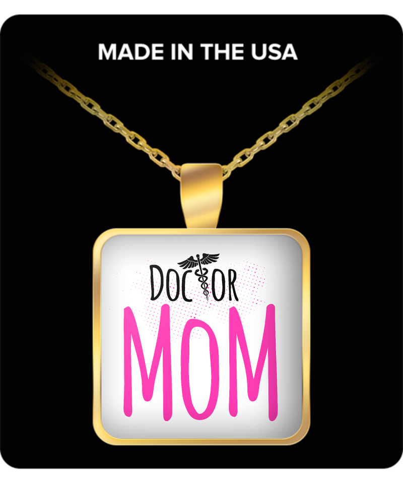 Mom Square Pendant Necklace – Doctor Mom