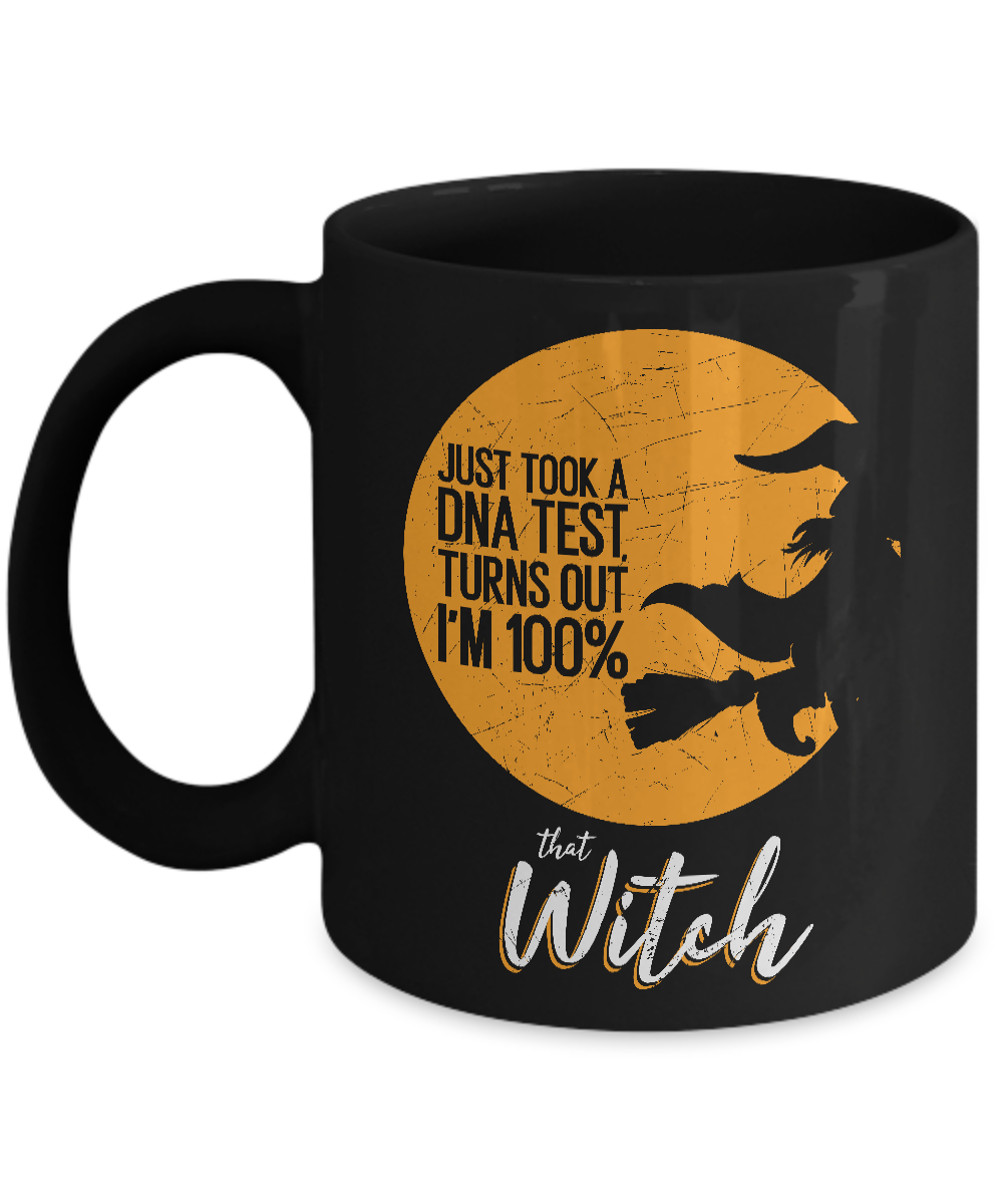 Witch Coffee Mugs - 11oz Coffee Mug - I'm 100% That Witch - Funny Ceramic Tea Cup For Women