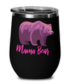 Mama Bear Wine Glass