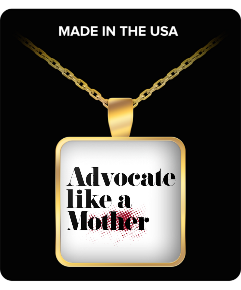 Mom Square Pendant Necklace – Advocate Like A Mother