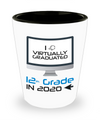 I Virtually Graduated 12th Grade In 2020 Shot Glass