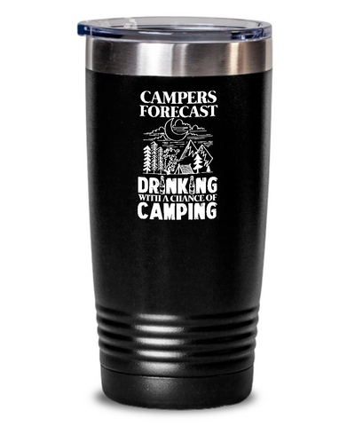 Campers Forecast: Drinking With a Chance of Camping Tumbler