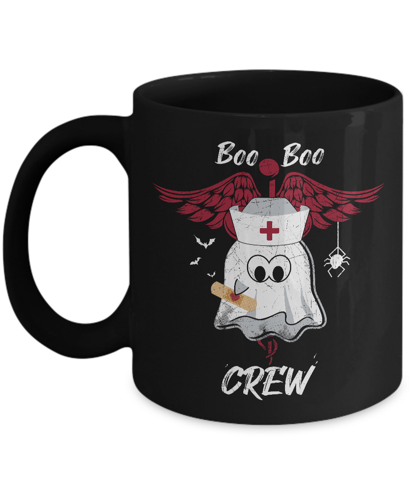 Boo Mug - 11oz Coffee Mug - Boo Boo Crew - Funny Ceramic Tea Cup For Men Women