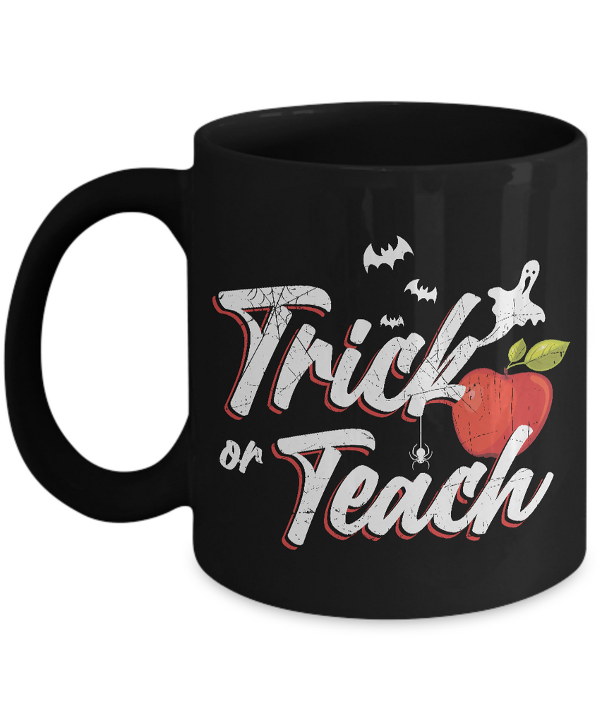 Halloween Coffee Mug - 11oz Coffee Mug - Trick Or Teach - Funny Ceramic Tea Cup For Men Women
