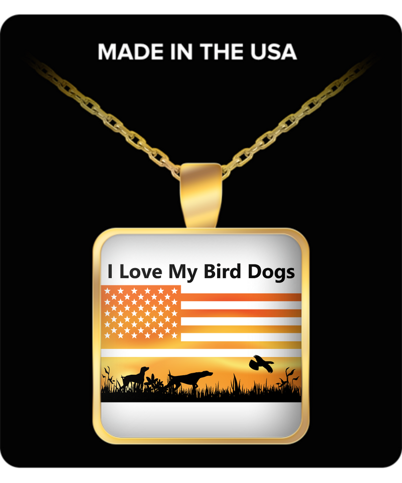 Hunter Square Pendant Necklace – I Love My Bird Dogs