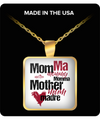 Mom Square Pendant Necklace – Different Mother Names